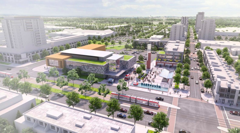 Rendering image of the new barrhaven downtown.
