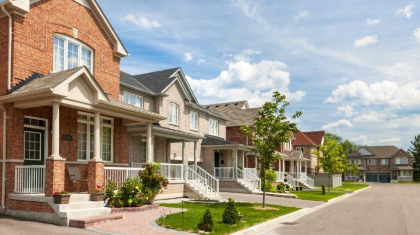 suburban residential street.