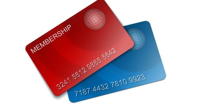 Two credit cards.