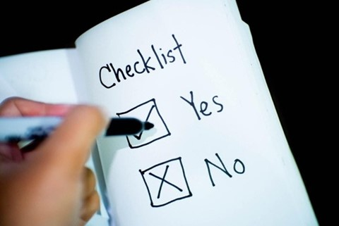 Home buying tips is to make a checklist.