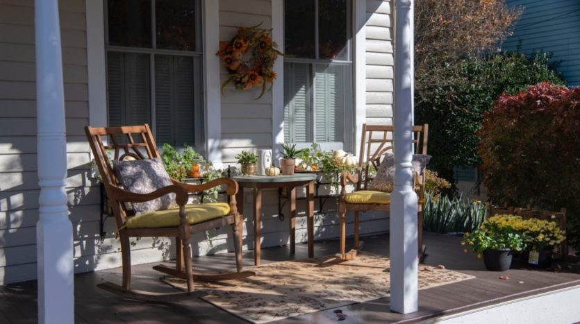 Front porch of a home.