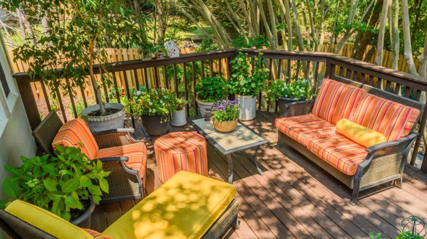 A cozy backyard can increase a home's value.